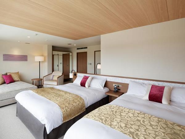 【プレミアデラックスルーム】専用備品やアメニティを備えた、8室限定の客室です