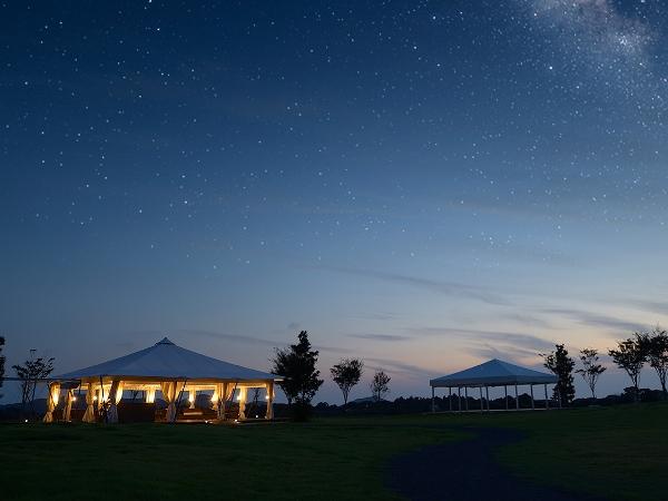 【てふてふの丘】ホテルから徒歩約3分。満天の星空をご覧いただけます