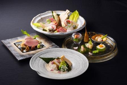 【ご夕食】 海懐石 (※写真は4〜5月の料理イメージとなります)