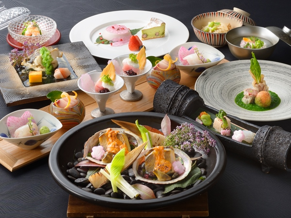 【ご夕食】海懐石(※写真は3〜6月の料理イメージとなります)