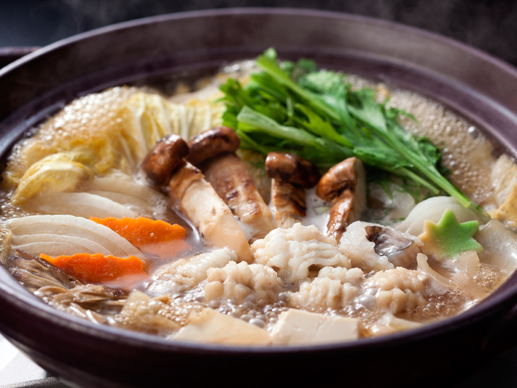 【鱧と松茸のすき鍋】錦秋の鱧と松茸のアンサンブル(料理イメージ)