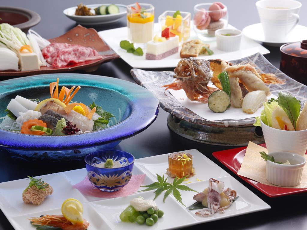 淡路島の海の幸と淡路牛付ディナー(料理イメージ)