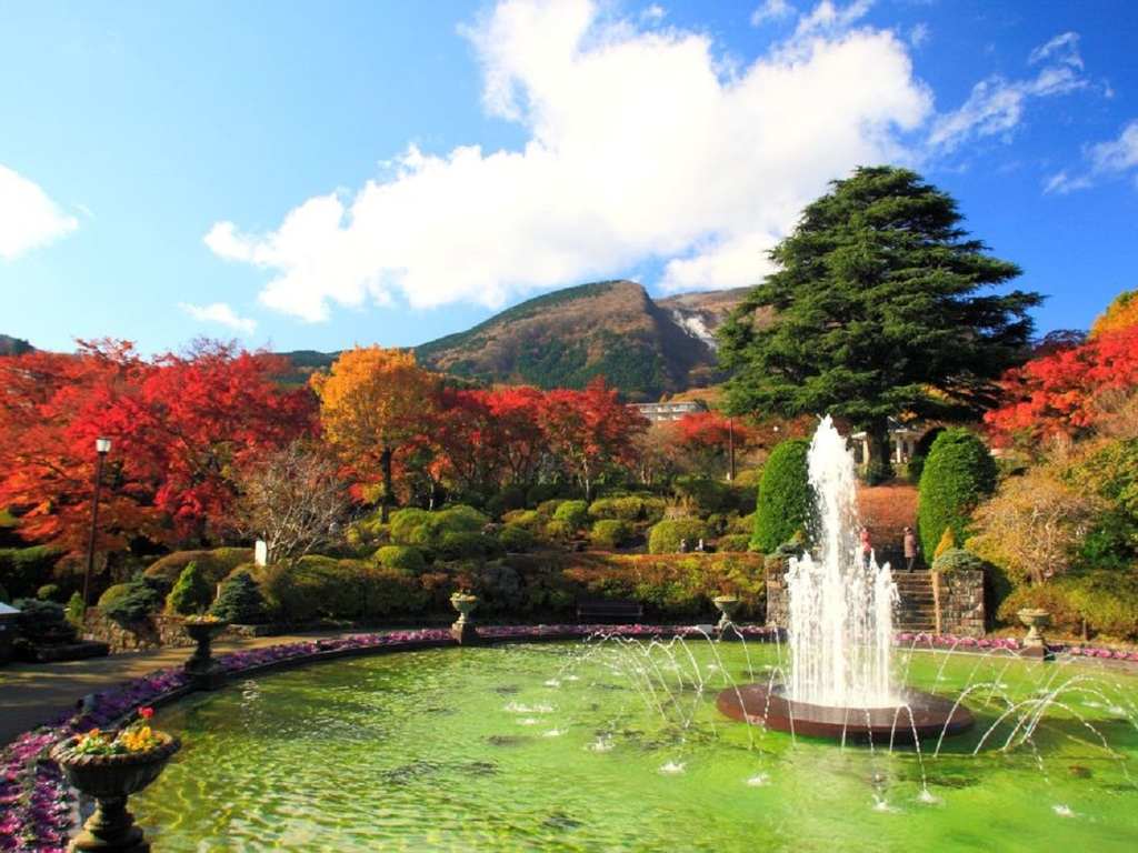 【11月】絵葉書のような強羅公園の紅葉(当館から徒歩10分)