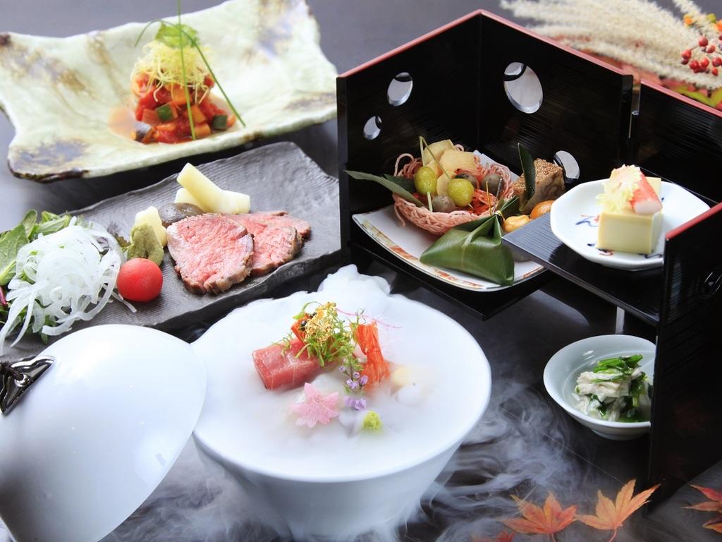 冬の食材をふんだんに使用した和食会席をご用意