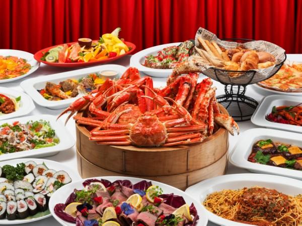 【2食付】満腹で満足♪ディナービュッフェ&朝食付プラン