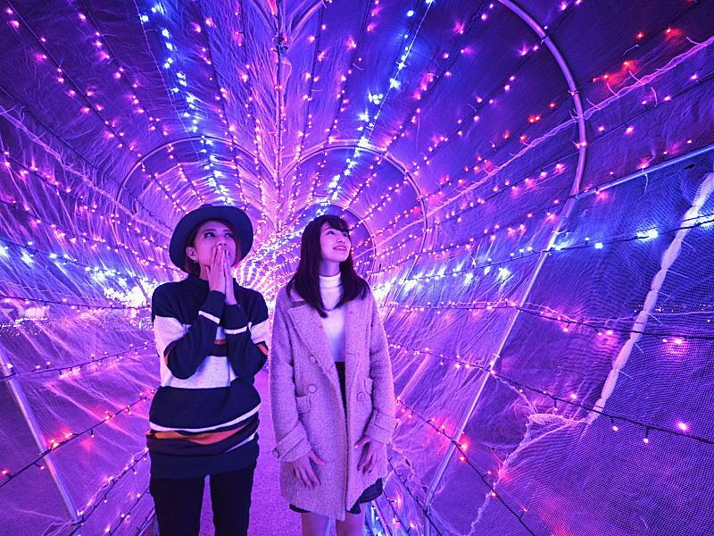 ★ハートランド★ピンクのハートのトンネルで写真撮影が大人気です!