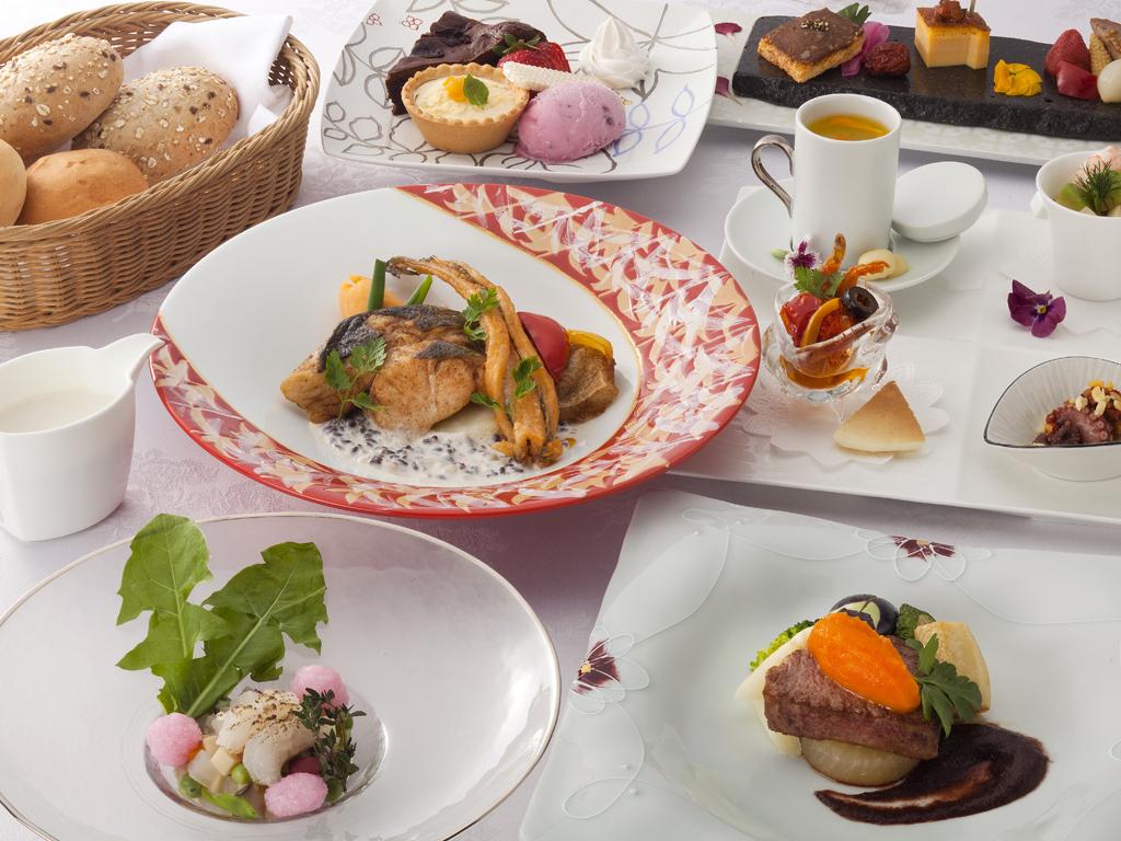 地元の食材を使用した目でも<br>楽しめるフレンチコース≪料理イメージ≫