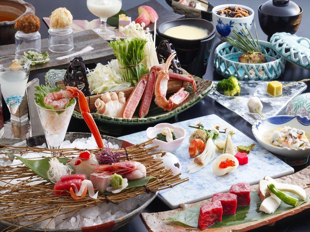 季節の食材を散りばめた会席料理。(12月〜2月の料理イメージ)