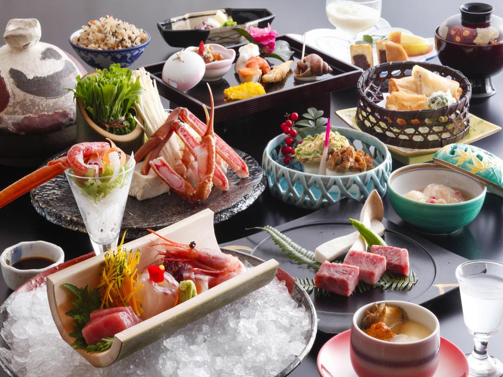 季節の素材を取り入れた会席料理をお楽しみ下さい。(画像は12月〜2月のイメージです)