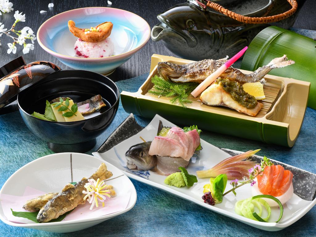 岩魚料理を堪能ください