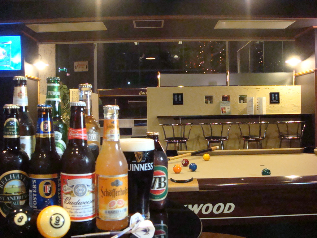 館内バー【GiraSpirits】でビリヤード&ダーツを楽しみながら、世界各国のビールをご堪能下さい♪