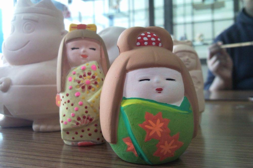 《博多人形絵付け体験》世界にひとつだけのMy博多人形を作りませんか?無心になって楽しめます♪