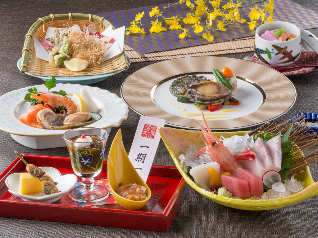 【食事】レストラン「季の蔵」春夏の基本会席<イメージ>