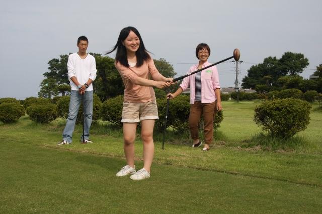 パークゴルフでナイスショット!