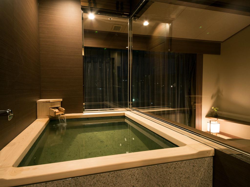お部屋の温泉は24時間いつでも入浴できます