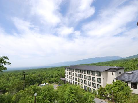 ホテルからの那須高原