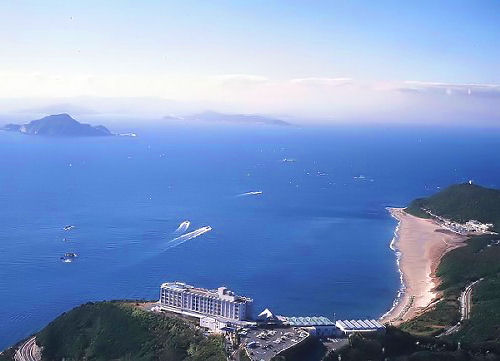 360度海に囲まれたビューホテル