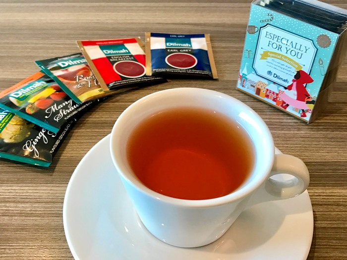 香り豊かな「ディルマ」の紅茶付き
