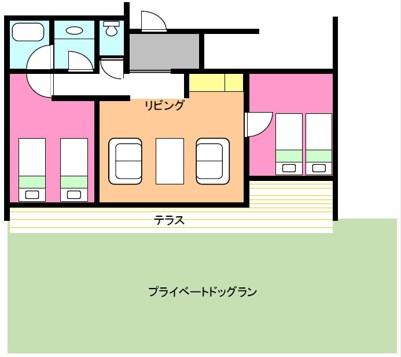 レイクサイドドッグヴィラ3〜4名様タイプ�A