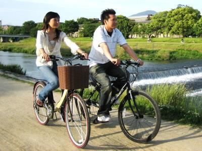 古都京都をレンタルサイクルで颯爽と散策