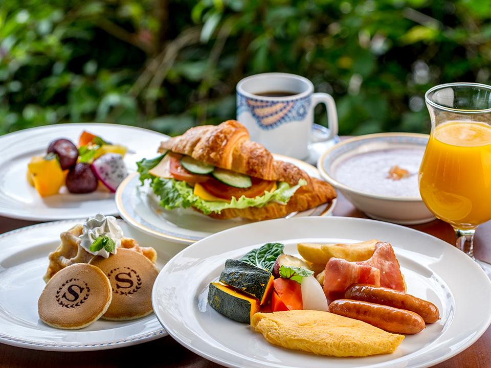 ガーデンビュッフェ「パインテラスの」朝食