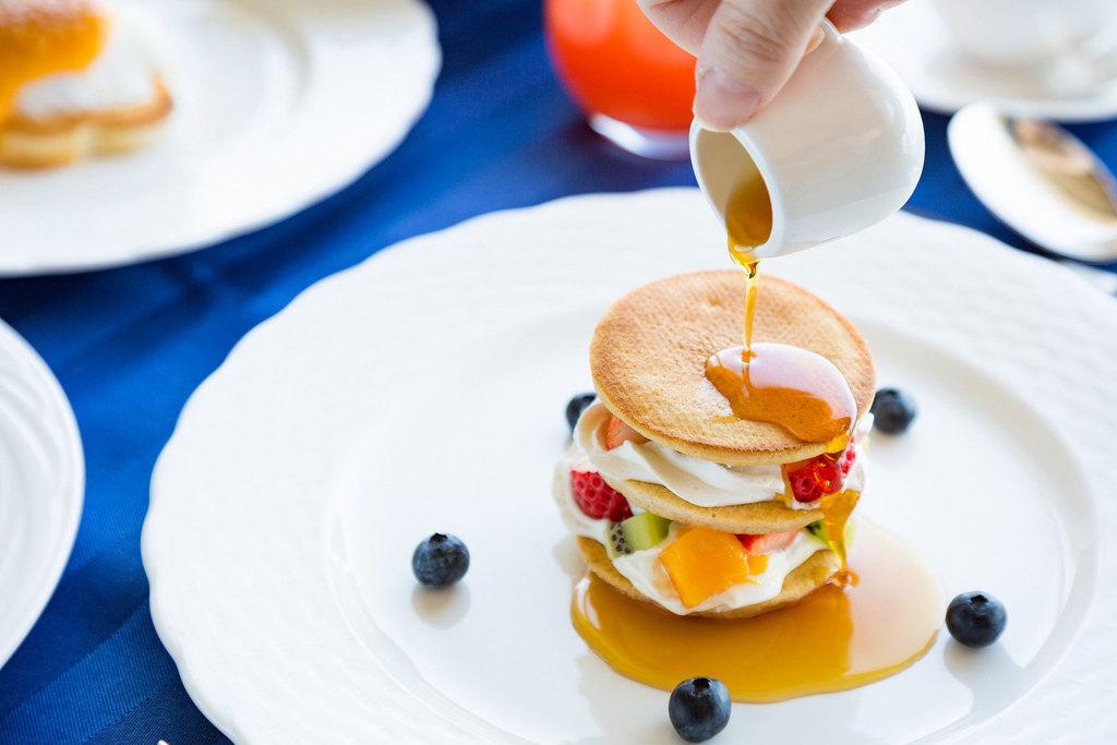 贅沢にお部屋で朝食♪