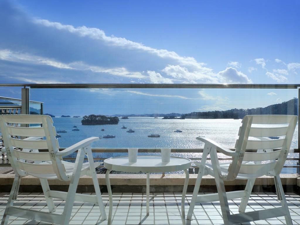 海側客室バルコニーからの眺め
