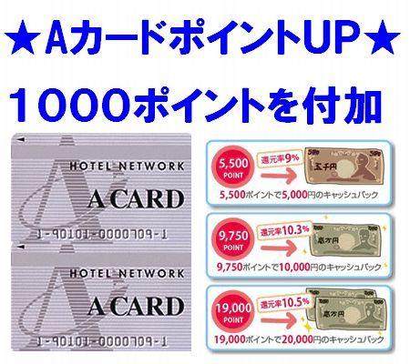 Aカード1000ポイント付