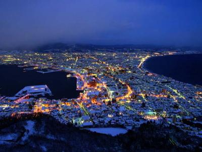 函館山 冬景色