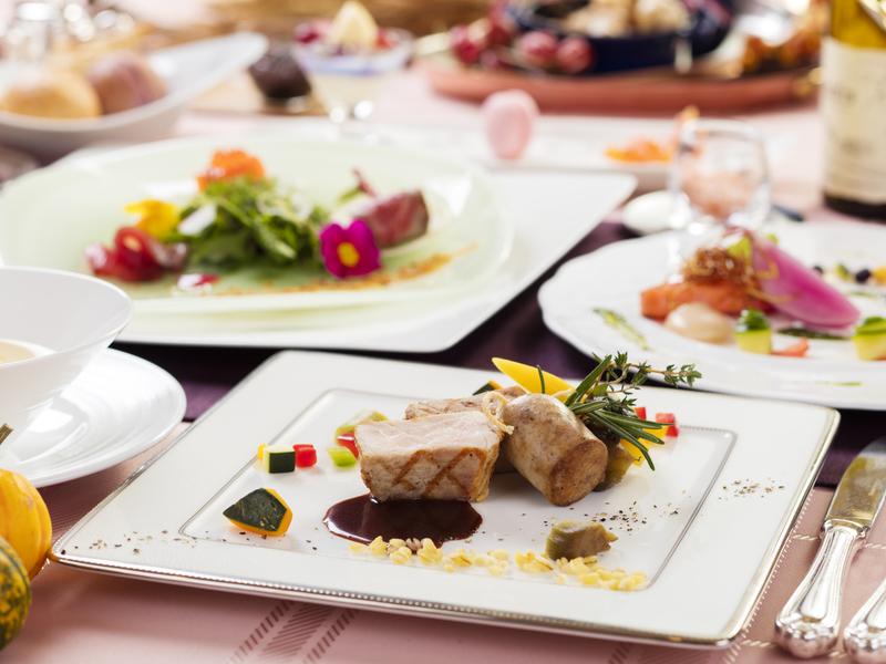 地元「立科オレイン豚」を使った一品料理