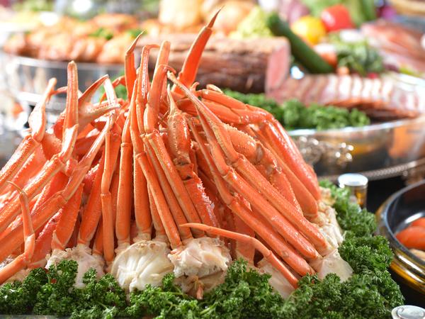 定番の「蟹」も、もちろん食べ放題♪