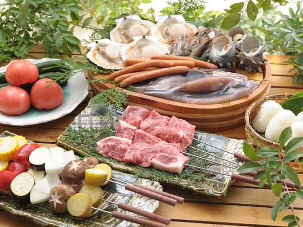 お肉をランクアップ!贅沢『上質BBQコース』(写真は4名様分)
