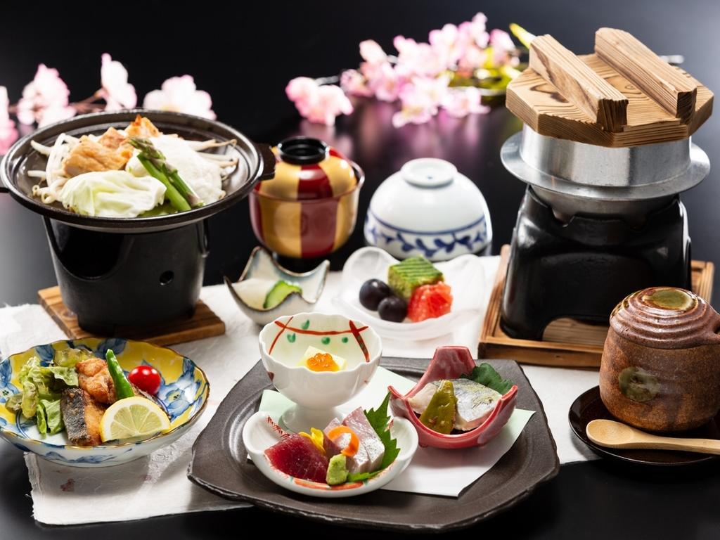 素材の味を気軽に楽しむ【一番リーズナブルな会席】※2019春料理イメージ