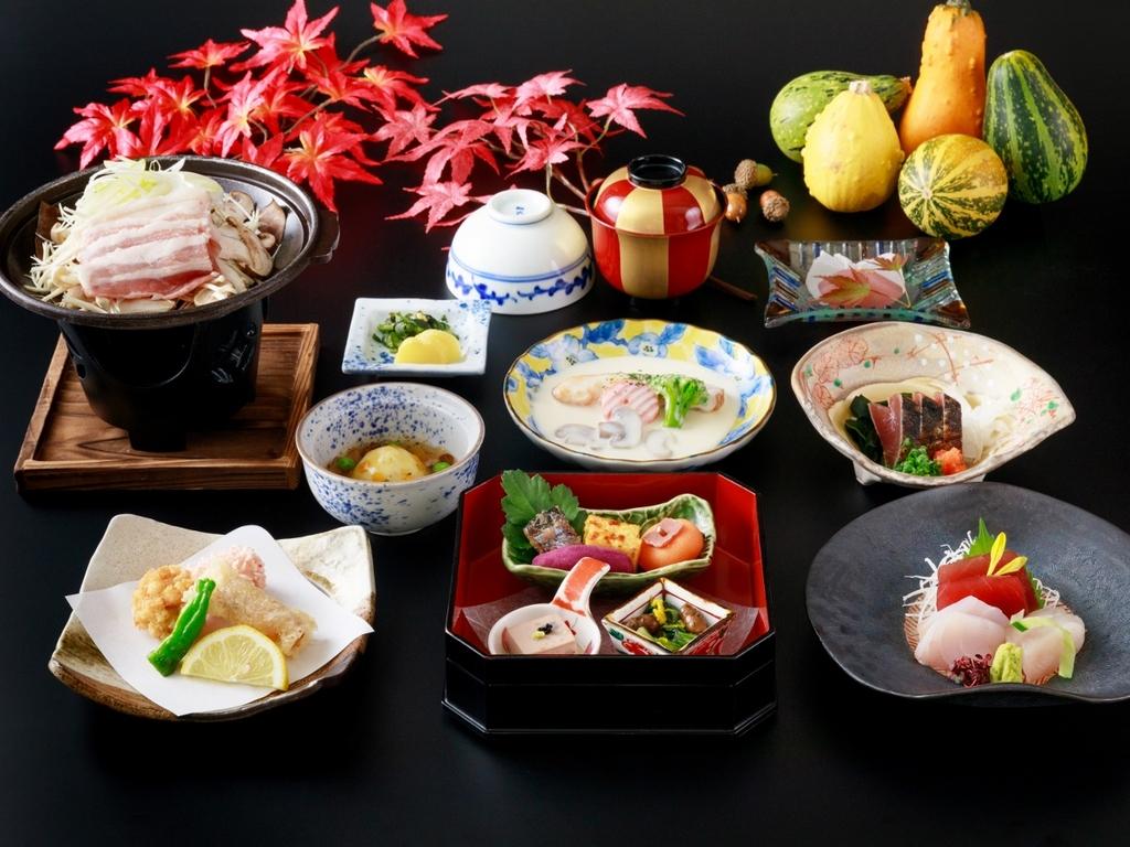 鮮魚のお刺身と旬の料理に舌鼓【スタンダード】※秋の料理イメージ