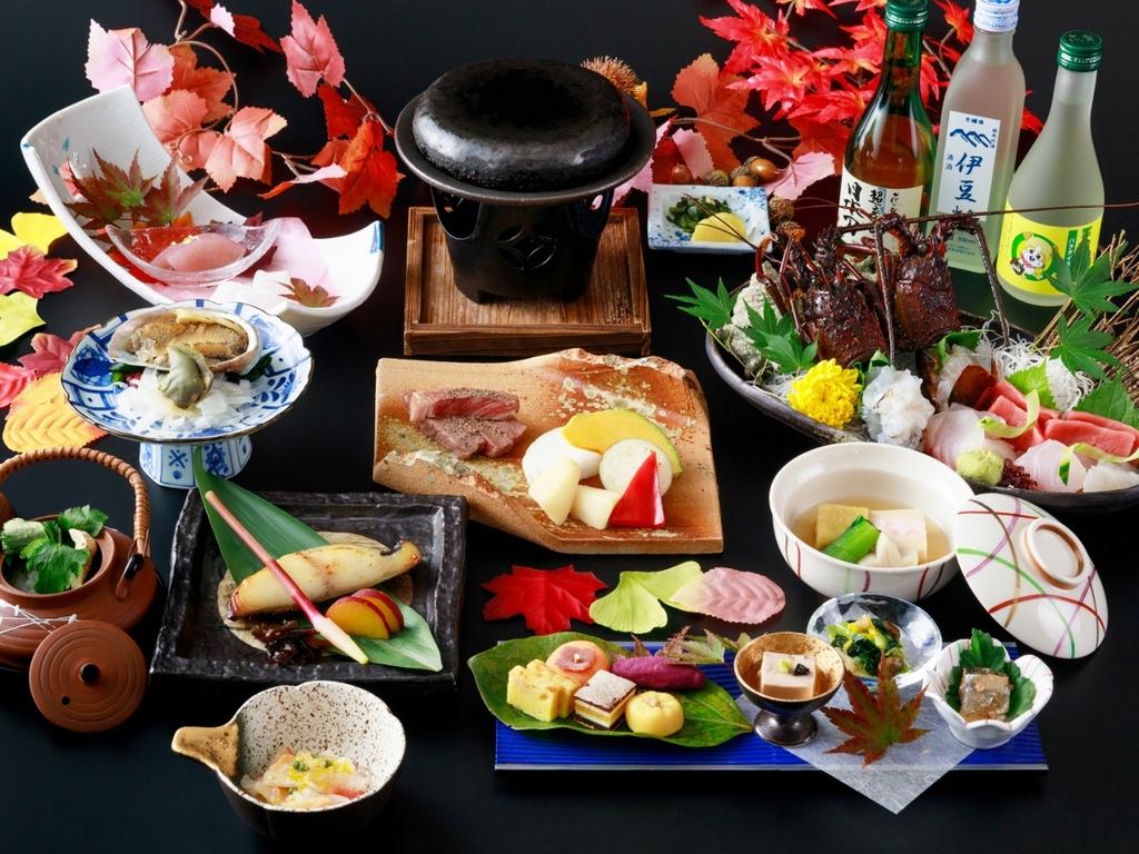 【三大味覚】伊勢海老・鮑・黒毛和牛を季節に合わせた料理法でおもてなし ※2020年秋の料理イメージ