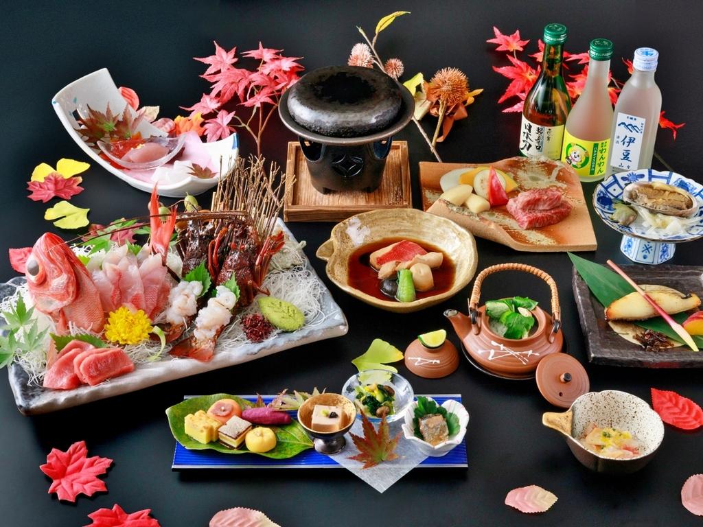 【極み会席】伊勢海老・金目鯛・鮑・黒毛和牛 ※2020年秋の料理イメージ