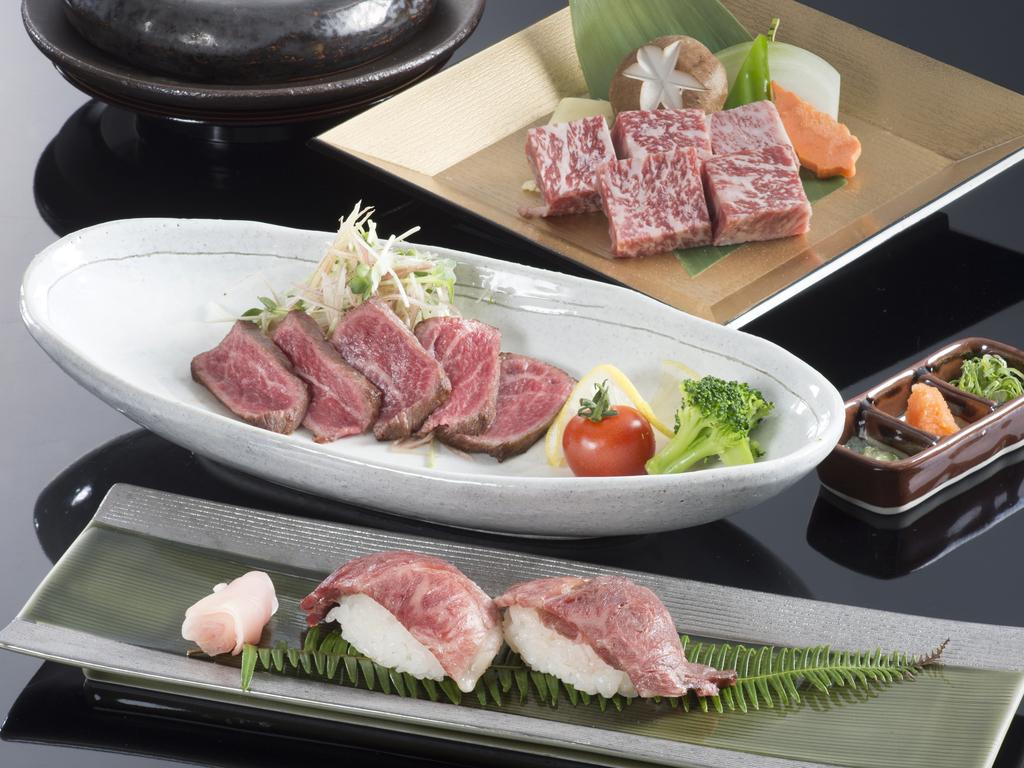 松阪牛を3種類の調理法で贅沢に味わっていただける一品