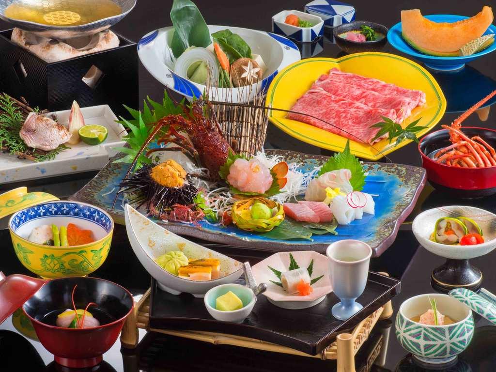 上質な松阪牛のしゃぶしゃぶ&荒波で育ったぷりぷり伊勢海老のお造り心を込めて調理いたします!