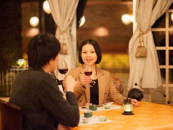 レストランでは、地元のお酒も揃えています!