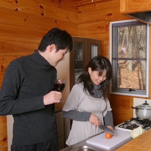 キッチン付コテージは、自炊設備を完備しています!