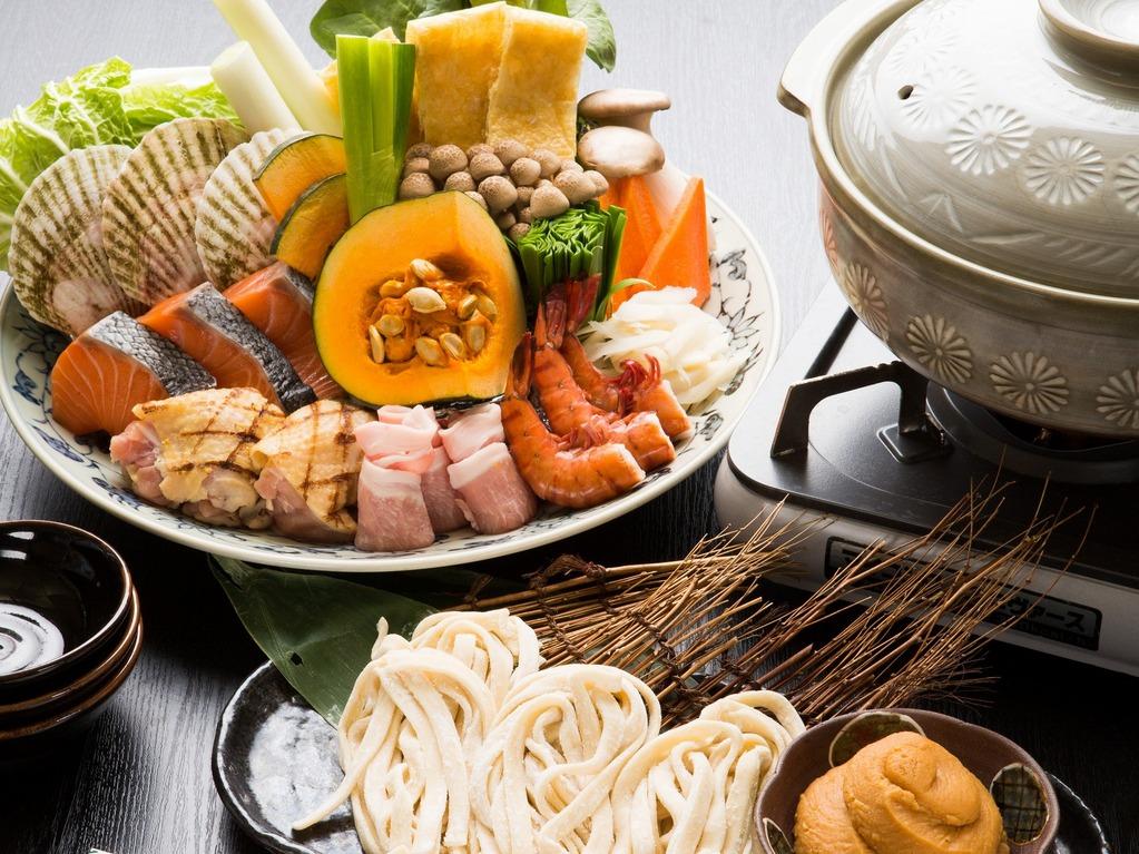 ご夕食お届け「山海ほうとう鍋」
