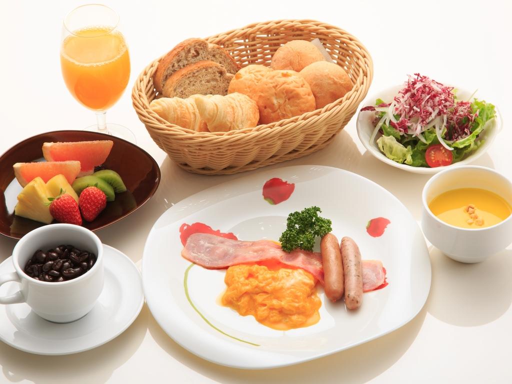 朝食メニュー一例(洋食セットメニュー)