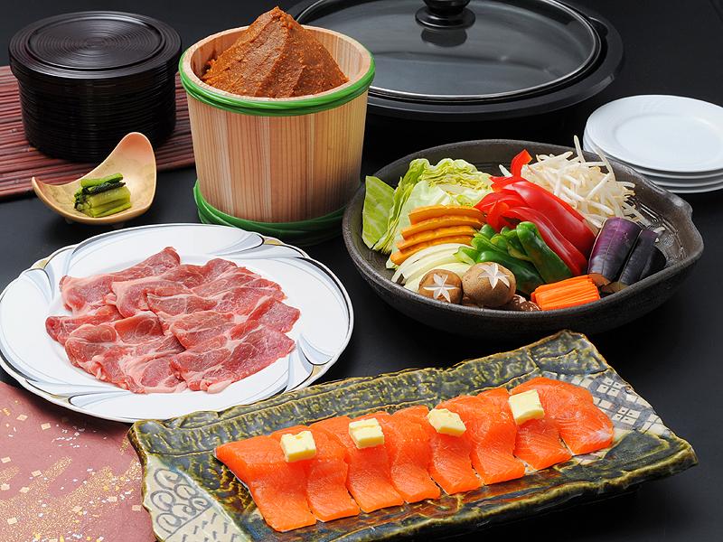 お部屋食【信州サーモンちゃんちゃん焼き】