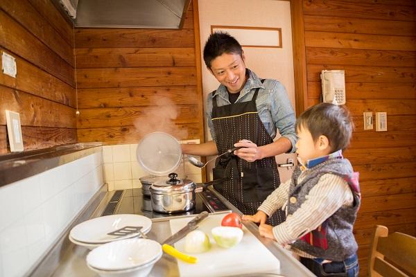 全室キッチン付だから、今日は腕をふるってパパも手料理なんていかがですか?