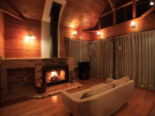 自然の火の温もりに暖まる贅沢なひととき