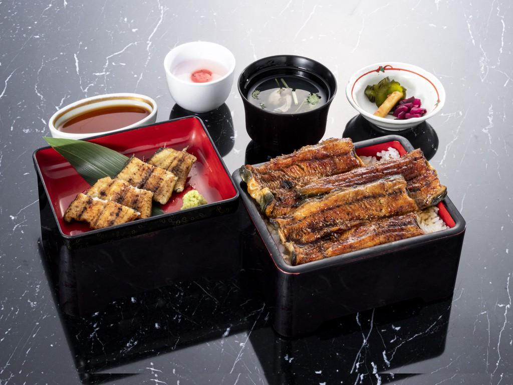鰻お重(1.5匹)+白焼(半身)