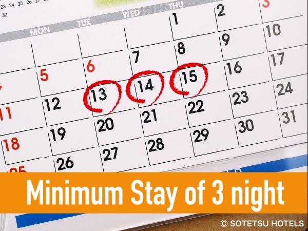 Minimum Stay of 3 night