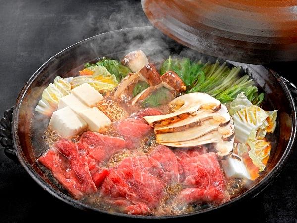 【秋のグルメ】黒毛和牛と松茸のすき焼き ※画像はイメージ