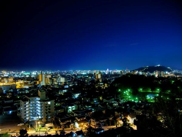 松山の夜景を一望