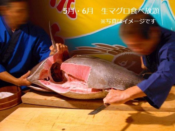 5月・6月生マグロ食べ放題 ※画像はイメージです